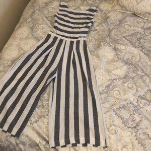 Pants - Striped jumpsuit